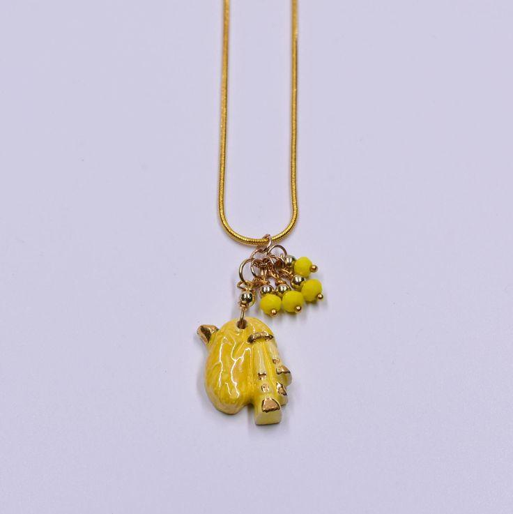 collana Ciaramida giallo oro argento