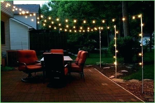 Backyard Party Lighting Ideas Outdoor Patio Lights Backyard Patio Backyard Lighting