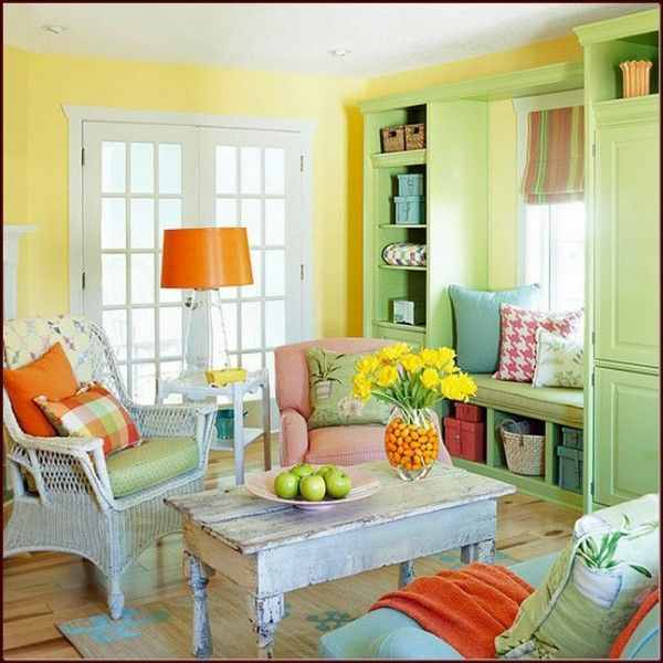 Cozy-Living-Room-In Awesome-Colorful-Living-Room-Design-Ideas