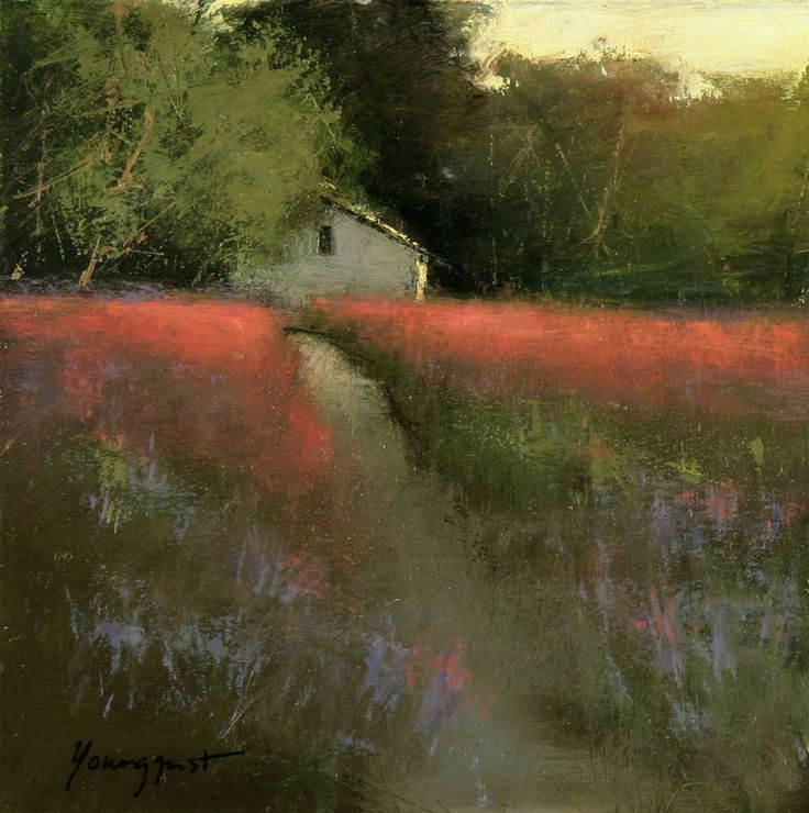 "Romona Youngquist . ""Lavender Sunset"" pastel"