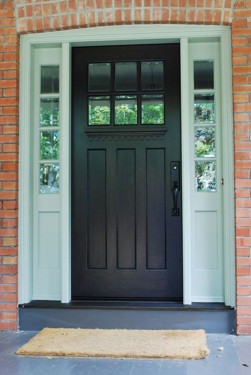 Single Entry Doors With Glass best 25+ craftsman style front doors ideas on pinterest