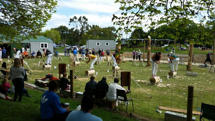 Wood chopping competition at Carterton  Photo taken/edited : Kim Mayca Morcilla     #skill #strength #time #woodchopping #quickcompetition #Carterton