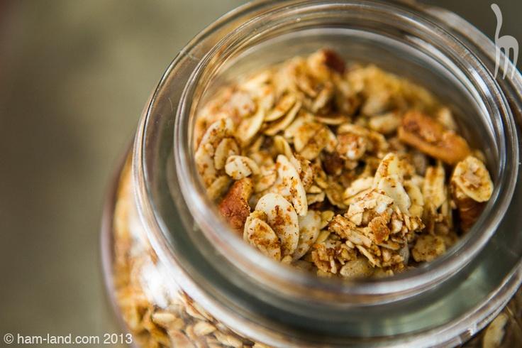 Honey Nut Granola in a glass jar