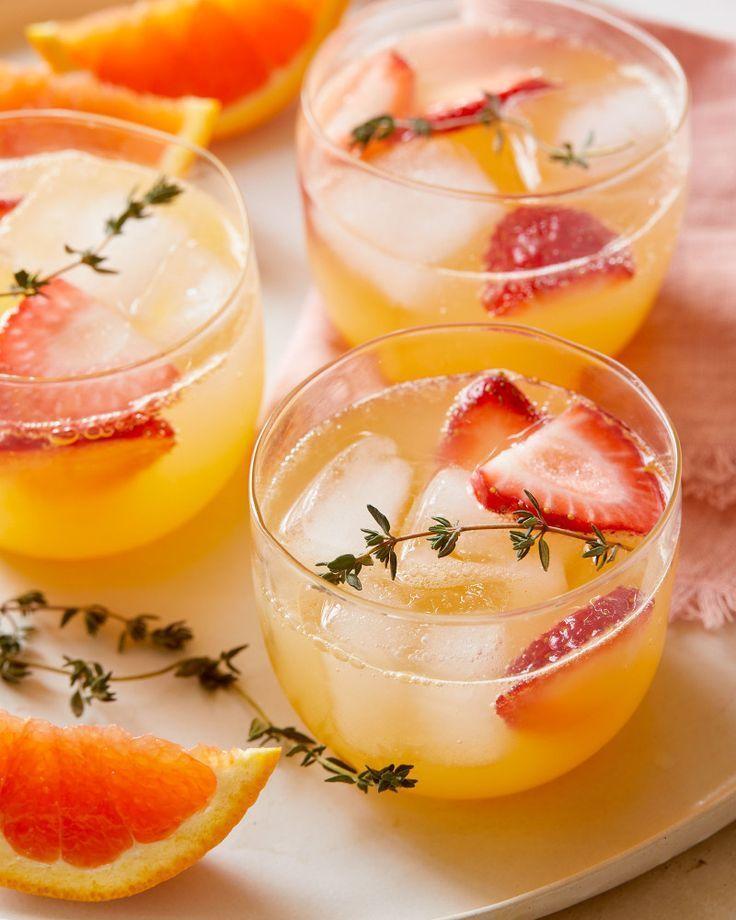 Sparkling Orange Strawberry and Ginger Juice