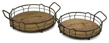 iMax Traineur Serving Trays - Set of 2 X-2-85047 - contemporary - Serving Trays - South Shore Decorating