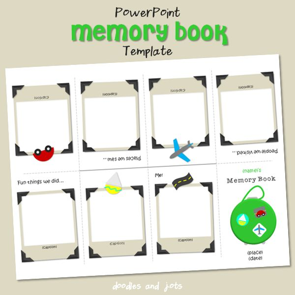 Memory book for baby printable template but can be used for Free printable baby book templates