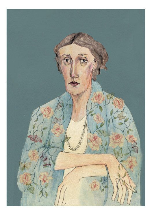 Virginia Woolf Portrait  by Bett Norris.