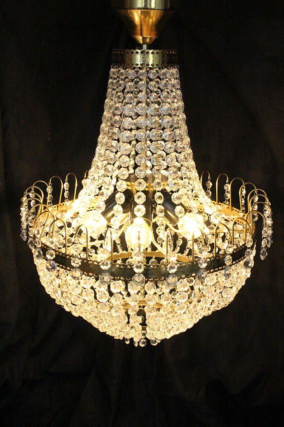 Gilded Crystal Chandelier Lighting Large Luxury Czech Murano Glass