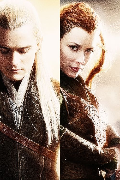 Legolas and Tauriel. They are the reason I haven't gone to see Desolation of Smaug yet. I can't really bring myself to see the extent to which Peter Jackson butchered the actual story of The Hobbit.