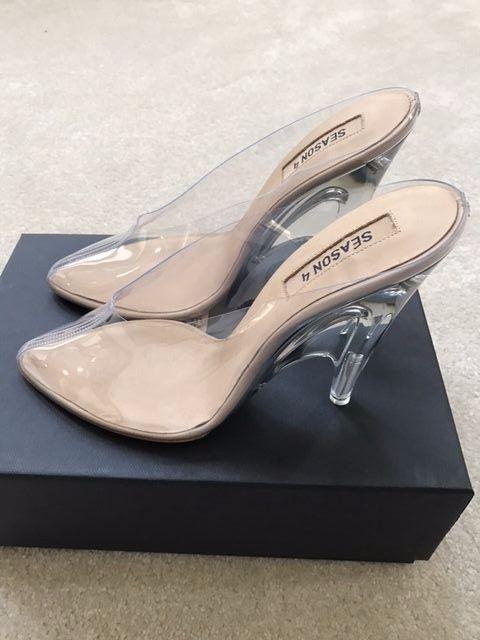 afb218a2877b Yeezy Season 4 PVC Lucite Plexi Clear Transparent Mules Mule Heels Sandals  Shoes  Yeezy  Mules