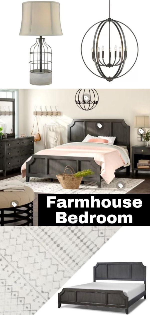 farmhouse room decor rustic farmhouse bedroom bedroom decor pinterest farmhouse Farmhouse inspired bedroom #ad #BedroomDecor #FarmhouseDecor # FarmhouseBedroom #BedroomIdeas