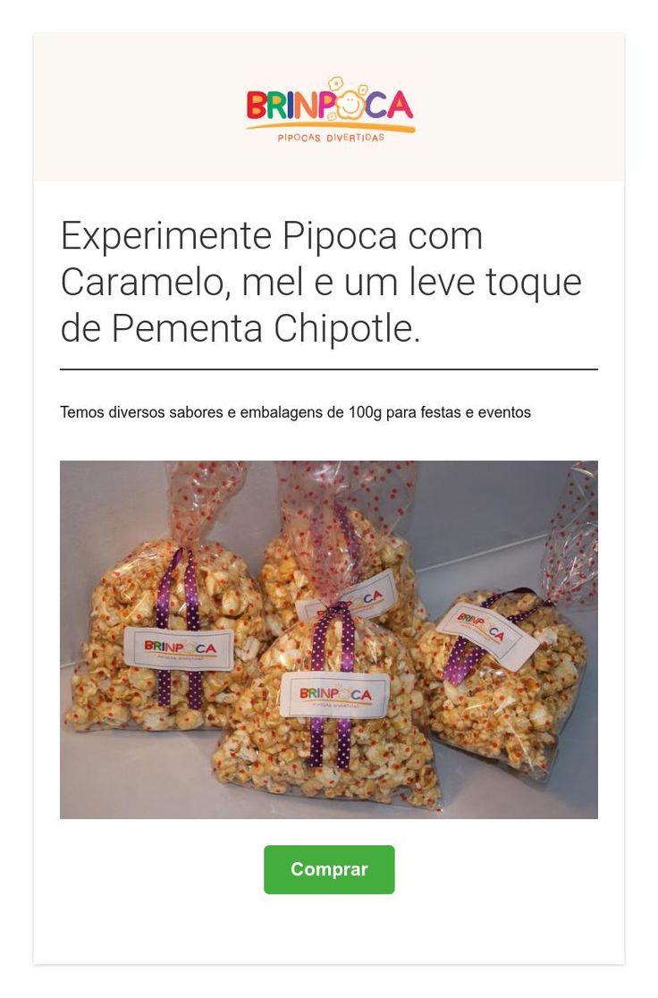 Experimente Pipoca com Caramelo, mel e um leve toque de Pementa Chipotle.