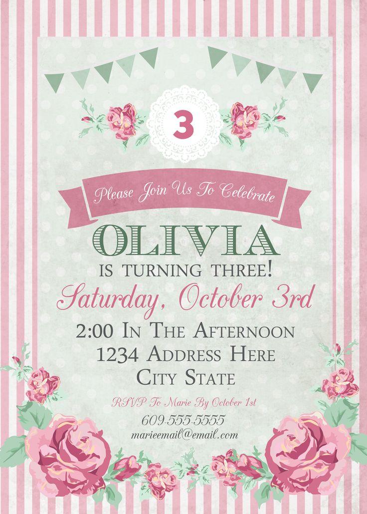 Get Free Printable Tea Party Invitations