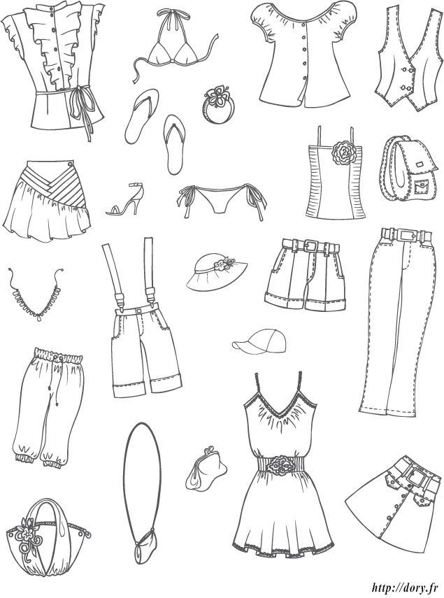 dessin imprimer des vtements et accessoires dt pour filles