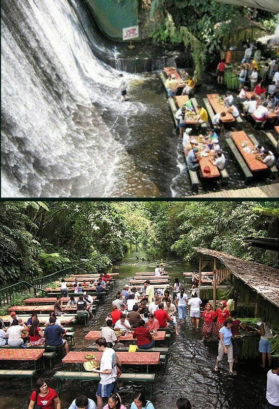 Villa escudero waterfall restaurant quezon province Villa escudero quezon province