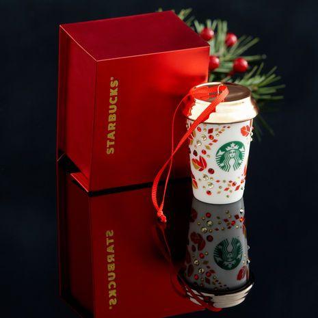 Swarovski® White Cup Ornament   Starbucks® Store