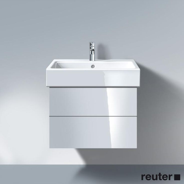 Duravit Delos vanity unit with 2 pull-out compartments front white high gloss / corpus white high gloss