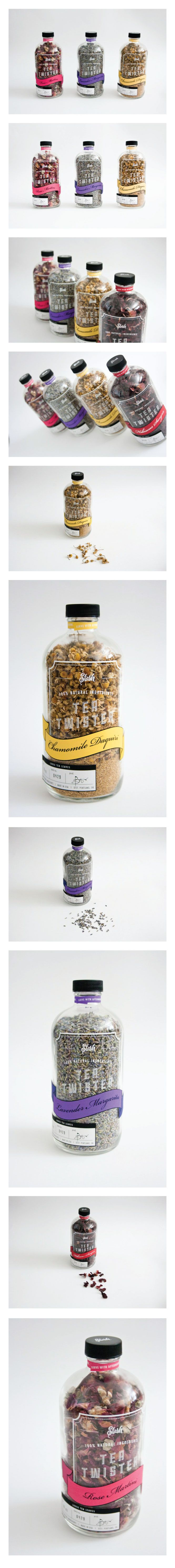 Tea Twister Graphic Design, Packaging, Typography By Bernee Briones http://berneebriones.com