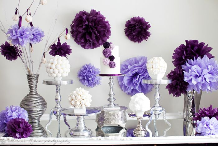 Shades of purple for a baby shower