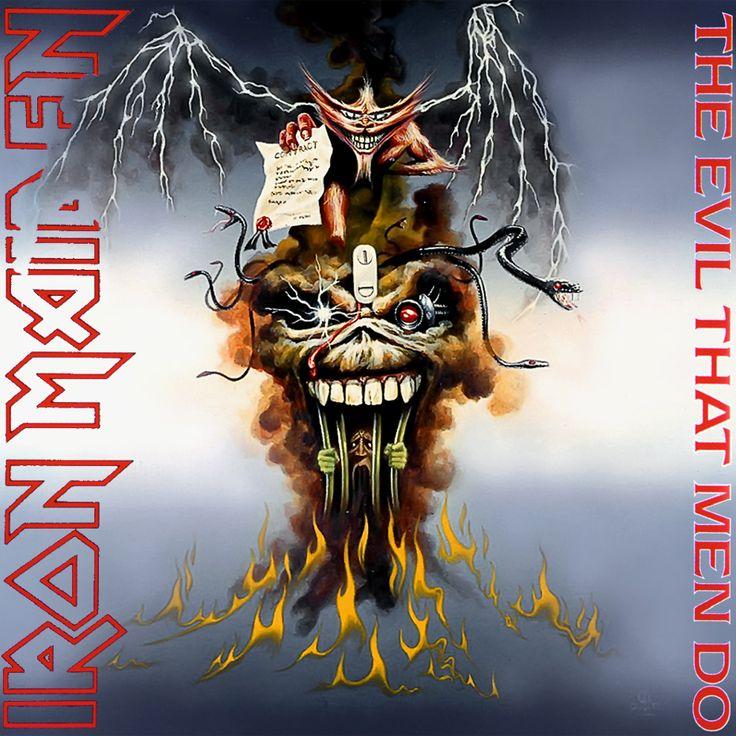 Iron Maiden Album Covers   Iron Maiden - The Evil That Men Do