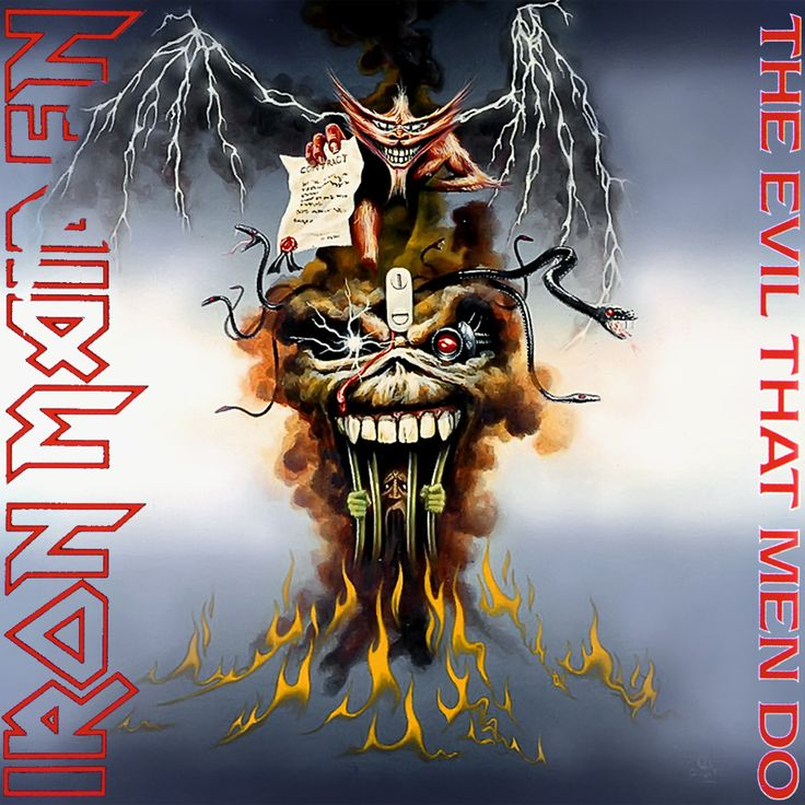 Iron Maiden Album Covers | Iron Maiden - The Evil That Men Do