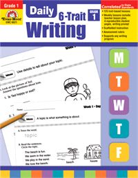 Daily 6-Trait Writing - Lesson Plans & Teacher Resources. Develop your students' writing skills in each of the six traits—Ideas, Organization, Word Choice, Sentence Fluency, Voice, and Conventions—using creative and dynamic writing lessons! Support any writing program with 125 engaging, 10- to 15-minute lessons; Grades 1-6+ evan-moor.com/6trait