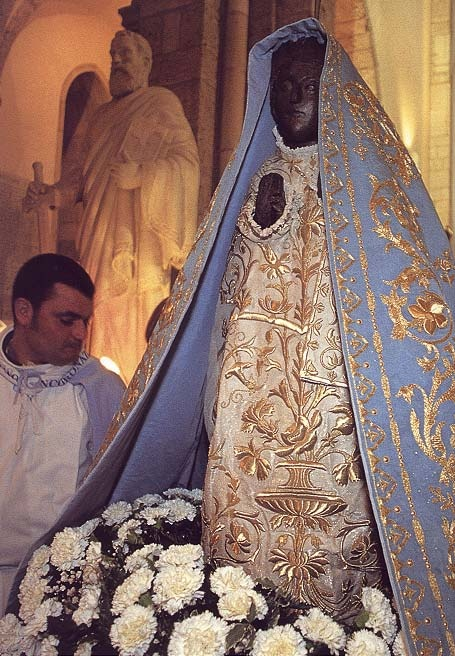 The Black Madonna of Pescasseroli, Italy in the St. Peter and St. Paul Abbey