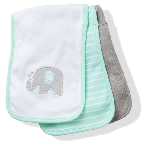 Baby Burp Cloths - Pack of 3 | Kmart - $7