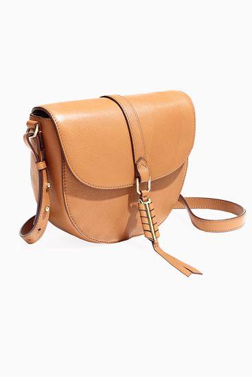 Stella and Dot Saddle Leather Covet Sloane Bag