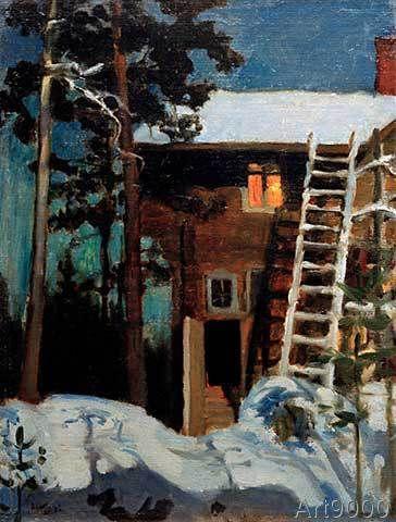 Akseli+Gallen-Kallela+-+Kalela+im+Winter