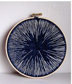 embroidery hoop - night sky edition