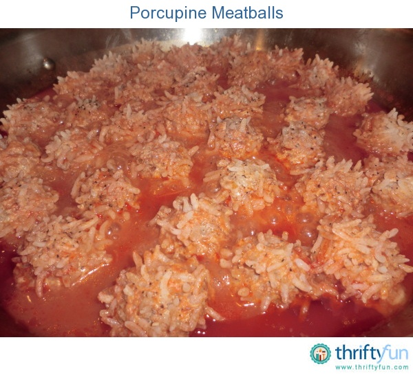 This is my version of the classic Campbell's soup porcupine meatball recipe. I was always a favorite of my daughter's so we made it again for our members. Enjoy.