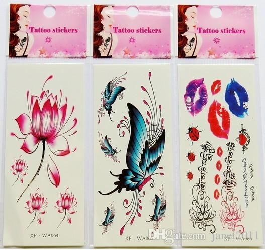 Fashion Body Art Stickers Removable Waterproof Temporary Tattoo Butterfly , Flowers , Icecream 1 Sheet=Body Temperory Tattoos Make Fake Tattoos Make Your Own Temporary Tattoos At Home From Janet2011, $0.24| Dhgate.Com