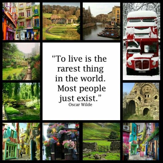 To live is the rarest thing in the world.  Most people just exist - Oscar Wilde