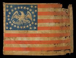 antique american flags - click link for more: http://jeffbridgman.com/html/antiqueflags.htm