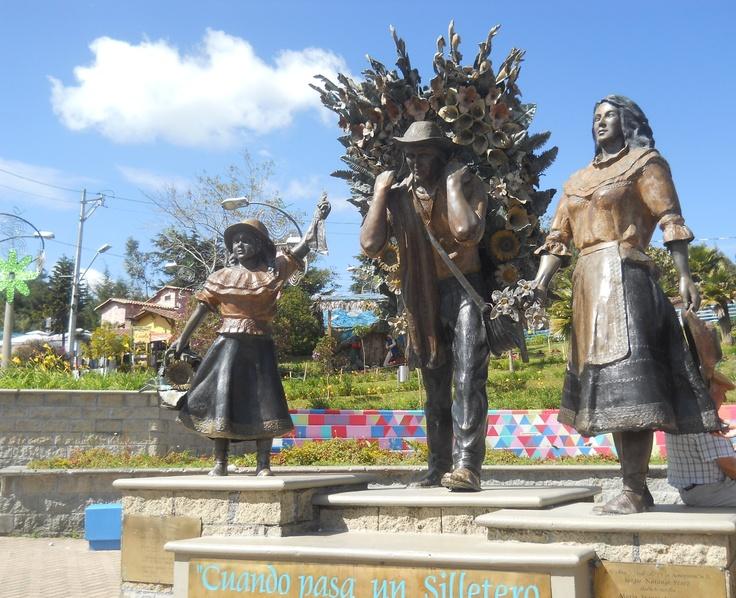 Town's plaza in Santa Elena Antioquia Colombia