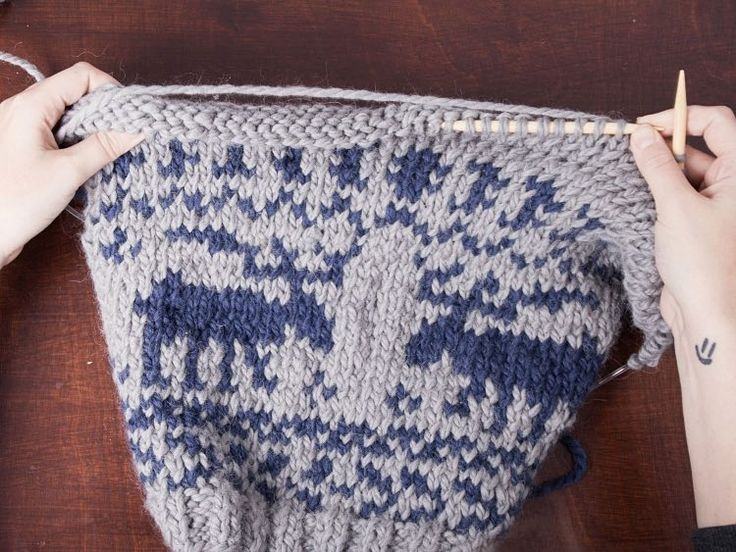 Woolen Socks Knitting Pattern : DIY-Anleitung: Strickmuster mit Elchen stricken via DaWanda.com Stricken un...