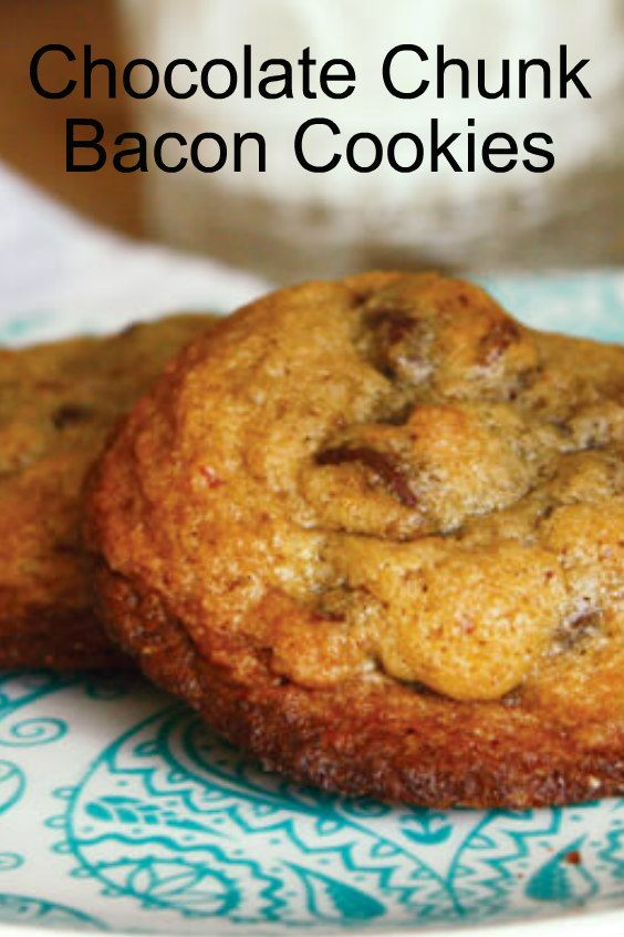 A chocolate chunk cookie is pretty perfect on its own. Add Jones bacon and you have a cookie masterpiece. Watch video: Get the recipe. Print Chocolate Chunk Bacon Cookies Ingredients 2 1/4 cups flour 1 teaspoon baking soda 1 teaspoon salt 1 cup 2 sticks unsalted butter, softened 3/4 cup dark brown sugar 3/4 cup …