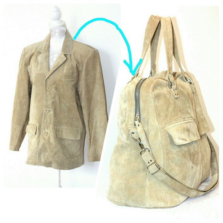 What's my bag made of? ☺ Beautifull suede from a jacket in a mint condition. This bag will be your best buddy and will last for ever.
