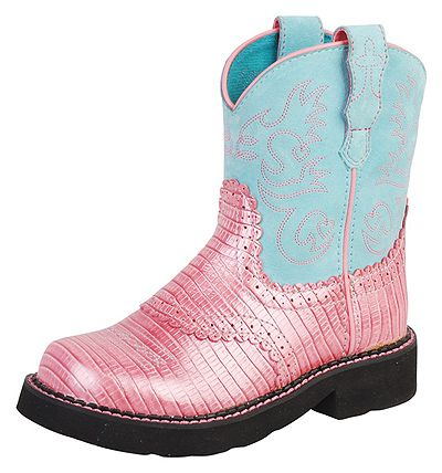 Ariat Youth Pink Fatbaby Saddle Style Boots  http://www.onlinebootstore.com/Merchant2/merchant.mvc?Screen=PROD_Code=obs_Code=A10001862_Code=AriatYouth
