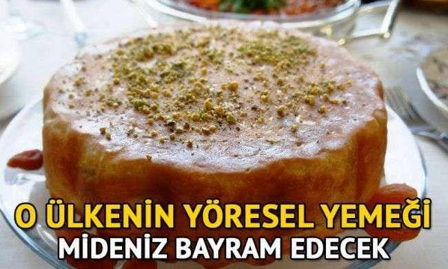 Azerbaycan'ın yöresel yemeği şah pilavı tarifi