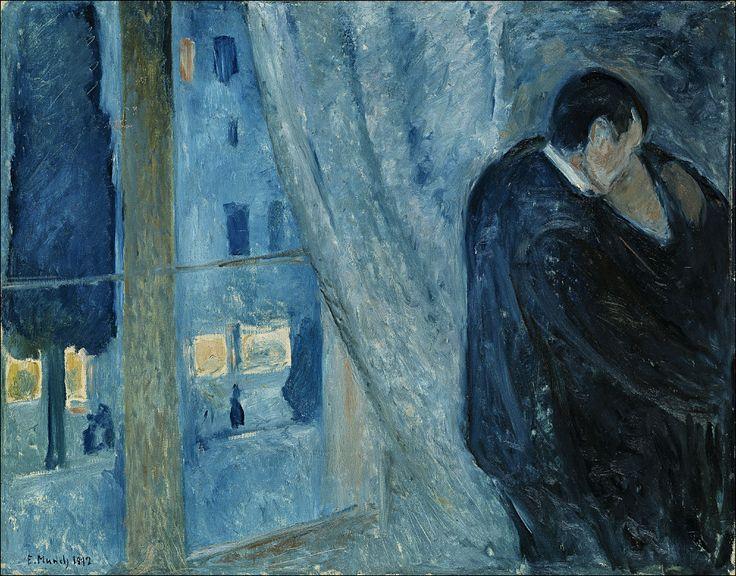 Edward Munch · Bacio alla finestra (part) · 1892 · The National Museum of Art, Architecture and Design · Oslo