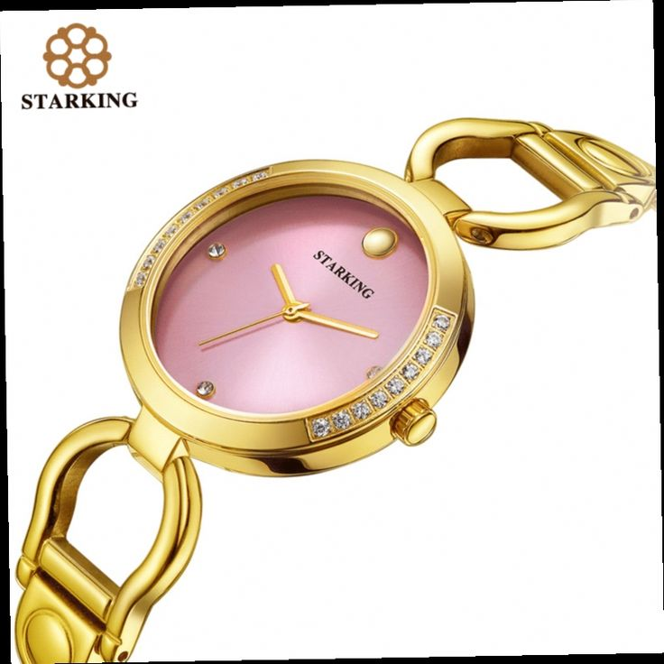 43.79$  Watch now - http://alixy5.worldwells.pw/go.php?t=32781596329 - STARKING Brand Fashion Ladies Quartz Gold Watches Diamond Women Pink Bracelet Elegant Wristwatch Analog BL0984 relogio feminino 43.79$
