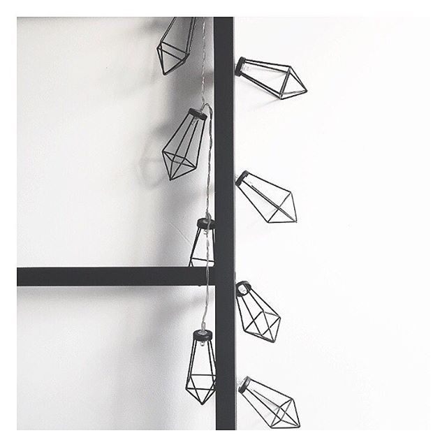 How cool are these $12 Geo Metal string lights from @therejectshop?!! They go perfectly with my freshly painted $25 bamboo ladder from @kmartaus . #therejectshop  #kmart #kmartaus #kmartstyling #bargain #thebargaindiaries #homedecor #stringlights