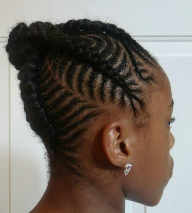 Peachy 1000 Images About Natural Kids Cornrow Buns On Pinterest Short Hairstyles For Black Women Fulllsitofus