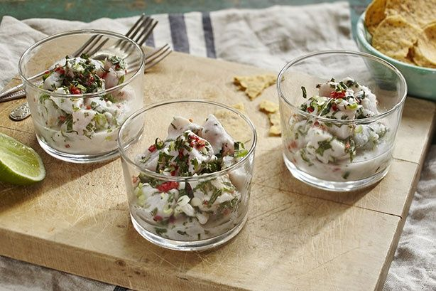 Dani Venn has us exclaiming 'Ole' with a Mex-inspired starter of fish, coconut, chilli and lime.