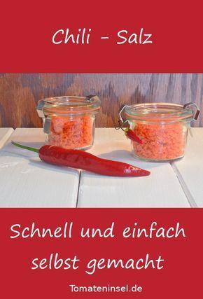 Chili-Salz - schnell und einfach selbst gemacht