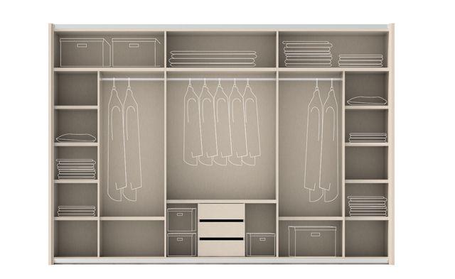 Las 25 mejores ideas sobre organizaci n del caj n de ropas - Distribucion armario infantil ...