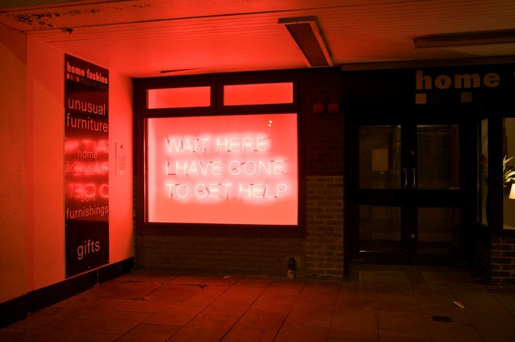 Tim Etchell's produced this and two other neon pieces for Lumiere Durham 2009.  Photo by Matthew Andrews.