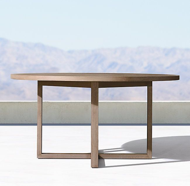 Aegean Teak Round Dining Table With Images Dining Table